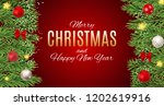 merry christmas and new year... | Shutterstock . vector #1202619916