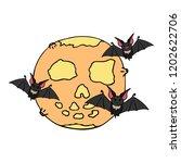 happy halloween color vector... | Shutterstock .eps vector #1202622706