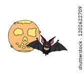 happy halloween color vector... | Shutterstock .eps vector #1202622709