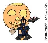 happy halloween color vector... | Shutterstock .eps vector #1202622736