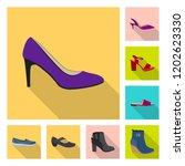 vector illustration of footwear ... | Shutterstock .eps vector #1202623330