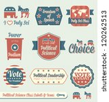 vector set  political science... | Shutterstock .eps vector #120262513