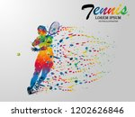 visual drawing tennis sport... | Shutterstock .eps vector #1202626846