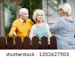 irritated senior couple... | Shutterstock . vector #1202627503