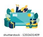 vector illustration  online... | Shutterstock .eps vector #1202631409