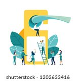 vector illustration  online... | Shutterstock .eps vector #1202633416