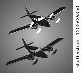 private plane vector... | Shutterstock .eps vector #1202636350