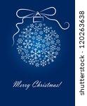 christmas background | Shutterstock .eps vector #120263638