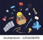 camping icons set. hiking icons ... | Shutterstock .eps vector #1202638390