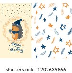 merry christmas gift card with... | Shutterstock .eps vector #1202639866