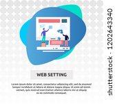 web setting   illustration... | Shutterstock .eps vector #1202643340