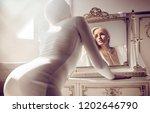 sensual blonde beauty posing | Shutterstock . vector #1202646790