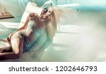 sensual blonde beauty posing | Shutterstock . vector #1202646793