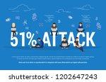 51  attack concept flat vector... | Shutterstock .eps vector #1202647243