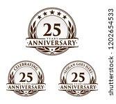 25 years anniversary set. 25th... | Shutterstock .eps vector #1202654533