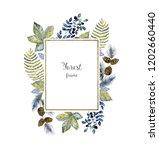 wash drawing arrangement with... | Shutterstock . vector #1202660440