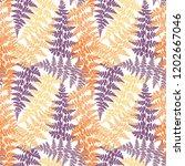 fern frond herbs  tropical... | Shutterstock .eps vector #1202667046
