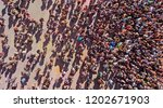 aerial people crowd background | Shutterstock . vector #1202671903