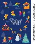 vector christmas winter poster... | Shutterstock .eps vector #1202680369
