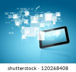 social network  communication... | Shutterstock . vector #120268408