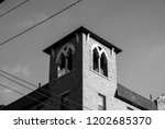 intricate architectural roof... | Shutterstock . vector #1202685370