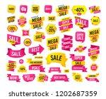 sales banner. super mega... | Shutterstock .eps vector #1202687359
