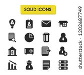 work icons set with diagram ...