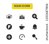 interface icons set with rating ...