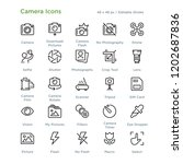 camera icons   outline styled... | Shutterstock .eps vector #1202687836