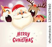 christmas companion santa claus ...   Shutterstock .eps vector #1202687860