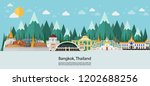 bangkok in thailand and... | Shutterstock .eps vector #1202688256