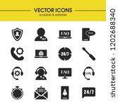 service icons set with operator ...