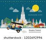 thailand landmark and travel... | Shutterstock .eps vector #1202692996