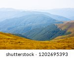 mountain plateau in a blue mist | Shutterstock . vector #1202695393