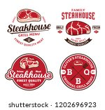 steakhouse or meat store logo... | Shutterstock .eps vector #1202696923