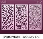 laser and die cut ornamental... | Shutterstock .eps vector #1202699173