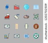 fitness icon set. vector set... | Shutterstock .eps vector #1202702509