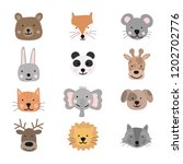 collection of cute animals for... | Shutterstock .eps vector #1202702776