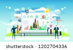 business people working...   Shutterstock .eps vector #1202704336
