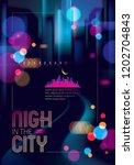 blurred street lights  urban...   Shutterstock .eps vector #1202704843