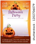 happy halloween editable poster ... | Shutterstock .eps vector #1202706079