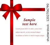 red bow and ribbon template.... | Shutterstock .eps vector #1202706790