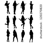 business woman silhouettes... | Shutterstock .eps vector #120270820