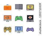 controller icon set. vector set ... | Shutterstock .eps vector #1202710339