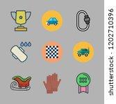 sport icon set. vector set... | Shutterstock .eps vector #1202710396