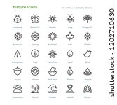 nature icons   outline styled... | Shutterstock .eps vector #1202710630