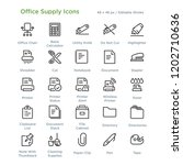 office supply icons   outline... | Shutterstock .eps vector #1202710636
