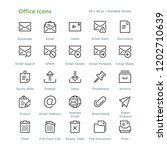 office icons   outline styled... | Shutterstock .eps vector #1202710639