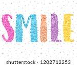 girl color text glitter star... | Shutterstock .eps vector #1202712253