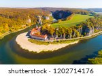 aerial view to weltenburg abbey ... | Shutterstock . vector #1202714176